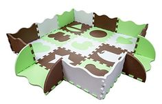 Wee Giggles Non-Toxic, Extra Thick Foam Play Mat for Tumm...