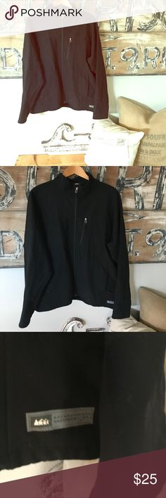 REI zip up wind breaker Men's zip up jacket. Small pin hole and stain. Pictured. Very small REI Jackets & Coats Performance Jackets