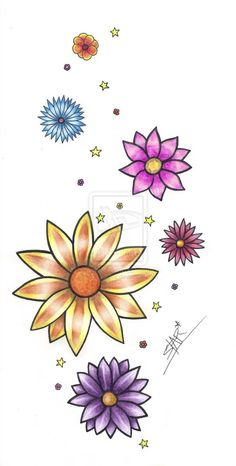 flower ring tattoo designs