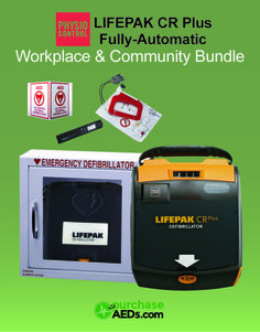 The #LifePak CR Plus is simple to maintain and comes with a 8-Year manufacturer warranty. The CR-Plus comes ready to use with a carry case, extra electrodes, Ambu Res-Cue Mask Kit etc. For details, visit http://www.purchaseaeds.com/shop/physio-control/lifepak-cr-plus-aed-bundle/