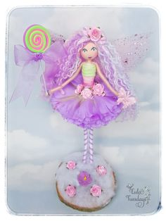 Lolly...a handmade fairy by Lula Tuesdays  Lollipop  Fairy doll Lilac fairy