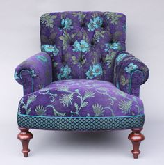 Middlebury Chair in Plum by Mary Lynn O'Shea (Upholstered Chair)   Artful Home