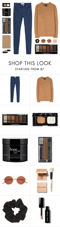 """Spring Chill"" by amazing-abby ❤ liked on Polyvore featuring MANGO, Marc by Marc Jacobs, Boohoo, NARS Cosmetics, philosophy, Oliver Peoples, Bobbi Brown Cosmetics and Topshop"