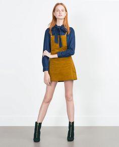 Image 1 of CORDUROY PINAFORE DRESS from Zara
