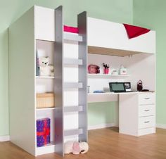 Cabin single bed, Cambridge childrens high sleeper M2430