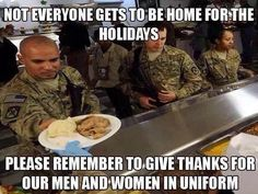 Thank you all and your families for sacrifices at Christmas and everyday.