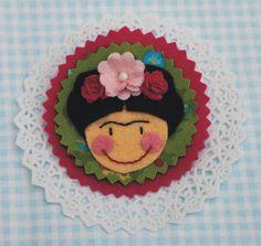 Frida ★ broche de fieltro
