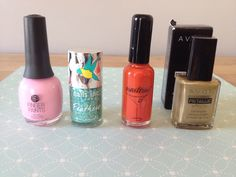 Nail polishes $3 each