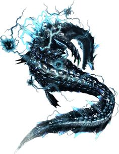 Abyssal Lagiacrus from Monster Hunter 3 ultimate! Monster Hunter Art, Monster Hunter 3 Ultimate, Monster Hunter Series, Fantasy Creatures, Mythical Creatures, Rare Species, Fan Art, Creature Design, Fantasy Art