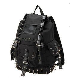 FUNKY CARTOON Faces Backpack Rucksack School College Goth Skull Rock Punk Bag
