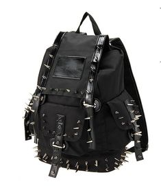 Shadow Apparel, black spiked Gothic backpack!