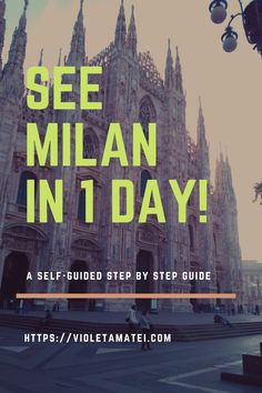 Here's how you can see the best landmarks in Milan in a fun and rewarding self-guided one day tour of this lovely Italian city. Bonus tip: there's also time for some shopping by the end of your Milan tour.