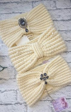 Crochet Headband Pattern, Knitted Headband, Knitted Hats, Hooded Cowl, Hair Hoops, Crochet Baby Clothes, Baby Sweaters, Baby Blanket Crochet, Knitting Stitches