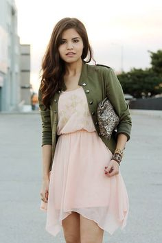 Blush And Army Green by Fake Leather