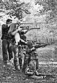 Hunting family - really cute family photo, maybe with how's too!