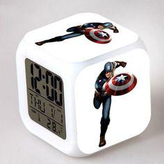Avengers Super Hero L.D Alarm Clock - Ironman - Captain America - Hulk - Thor - Black Widow - Hawkeye Led, Digital Alarm Clock, Cooking Timer, Home Decor, Decoration Home, Room Decor, Home Interior Design, Home Decoration, Interior Design