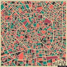 Zo kleurrijk zie je het stratenplan van Milaan niet vaak - nrc.nl