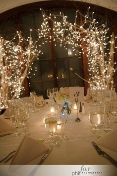 14 New Year's Eve Party Ideas..love the branches with lights
