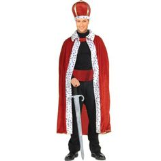 Forum Novelties Men's King Robe and Crown Costume Purple One Size