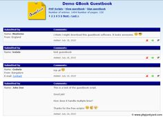 Guestbook main page free php script
