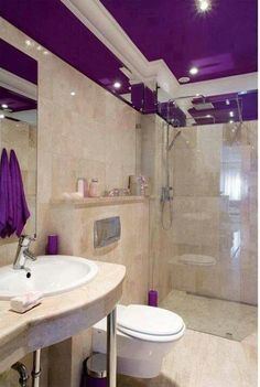 Purple Ceiling And Accessories