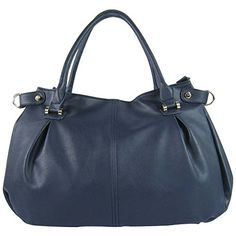FASH Women's Luxury Duffle Style Shoulder Handbag,Navy Blue,One Size ** You can find more details by visiting the affiliate link Amazon.com.