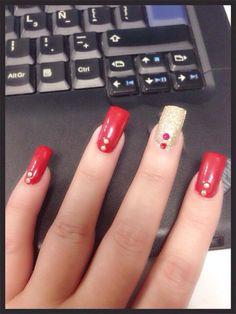 Diciembre Mis uñas Rojas!!