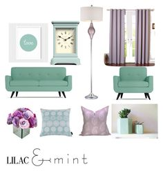 """""""lilac & mint"""" by meant2bead on Polyvore featuring interior, interiors, interior design, home, home decor, interior decorating, ELK Lighting, Kensie, Newgate and Best Home Fashion"""
