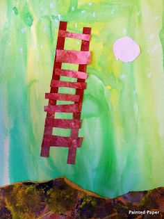PAINTED PAPER Blog, O'keeffe ladder to the moon inspiration