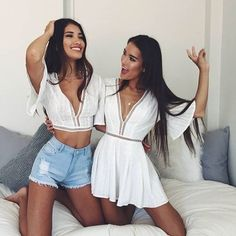 Outfits for you and your BFF to match at parties Girl Fashion, Fashion Outfits, Womens Fashion, Fashion Trends, Ootd Fashion, Style Fashion, Fashion Jewelry, Summer Outfits, Cute Outfits