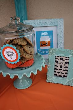 ***Very cute shower -- mustache...milk and cookie bar