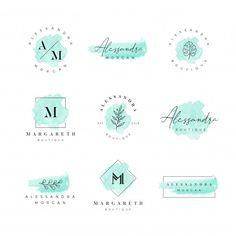 Kreis Logo Design, Logo Generator, Logo Fleur, Brand Identity Design, Branding Design, Watercolor Logo, Flower Watercolor, Inspiration Logo Design, Cake Logo Design