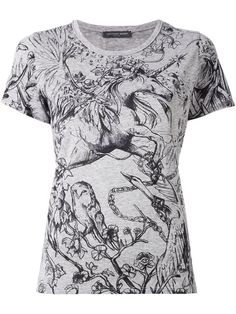 Alexander McQueen футболка с принтом единорога