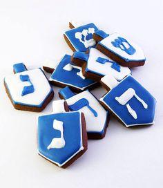 Decorated Cookies Hanukkah Dreidel 2 dozen by katieduran on Etsy