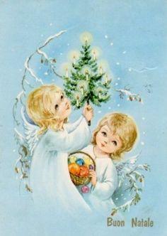 Vintage Christmas card   les méli-mélos de Noël de mamietitine