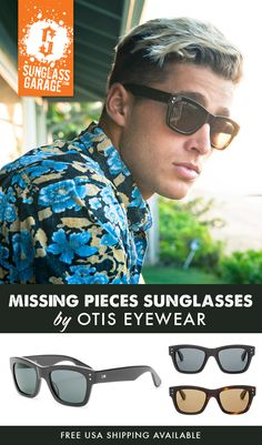 9b888b1b710b Otis Missing Pieces Sunglasses - by Otis Eyewear - Free USA Shipping