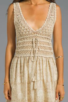 Outstanding Crochet: Paradise Maxi Dress from Eternal Sunshine Creations. Crochet&Fabric.