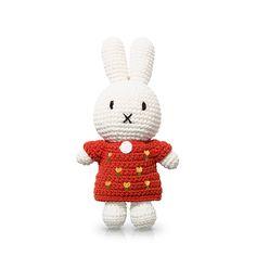 Crochet yellow dress for Miffy Handmade. Buy this Miffy miffy handmade clothes today! Tulip Dress, Yellow Dress, Baby Pony, Baby Koala, Miffy, Red Tulips, Handmade Clothes, Smurfs, Knit Crochet
