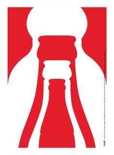 Kiss The Past Hello. Coca-Cola Design: 100 Years of the Coca-Cola Bottle. by: Lundgren + Lindqvist Pepsi, Coke, World Of Coca Cola, Graphic Art, Graphic Design, Image Icon, Ads Creative, Poster Ads, Necklaces