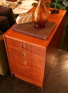 Pair Of Teak Danish Modern File Cabinets Use For Sheet