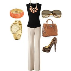 """Early Fall Work Outfit"" by sandrataylor on Polyvore"
