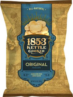 Herr's 1853 | Kettle Cooked Potato Chips Chip Packaging, Packaging Snack, Types Of Packaging, Packaging Ideas, Food Branding, How To Cook Potatoes, Luxury Packaging, Potato Chips, Box Design