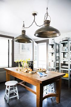 Rustic kitchen space. | http://domino.com