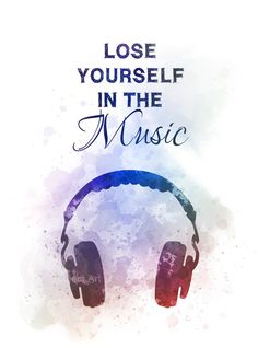 Lose yourself in the Music Quote ART PRINT Headphones, Inspirational, Gift, Wall Art, Home Decor – Unique Wallpaper Quotes Music Wallpaper, Wallpaper Quotes, Cute Quotes, Words Quotes, Swag Quotes, Art Prints Quotes, Quote Art, Foto Flash, Music Quotes Deep