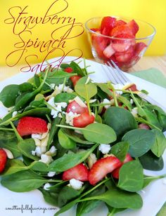 Strawberry Spinach Salad recipe Great recipe for #summer #recipes #salad