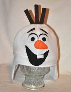 Snowman Character Fleece Hat by TheCraftEGalShop on Etsy
