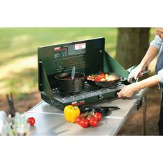 Coleman-Dual-Stove-Fuel-2-Burner-Liquid-Camping-Hunting-Gear-Compact-Tailgate