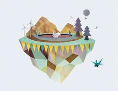Küçük ada by Ramiro Lozada, via Behance