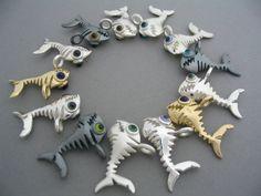 fishbone pendants, various designs on dudek-shop.de