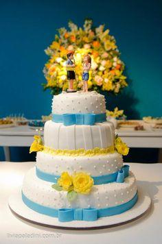 90 melhores imagens de Decoração - Azul e Amarelo   Dream wedding ... 29d2bee5de